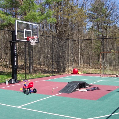 30 x 55 ft. Sport Court basketball multi-sport court in Colchester, VT.