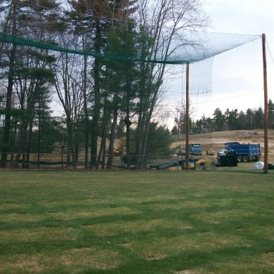 Outdoor hitting range on a Kingston, NH golf course.