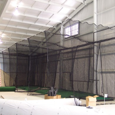 An indoor range under contruction in New Castle, NH