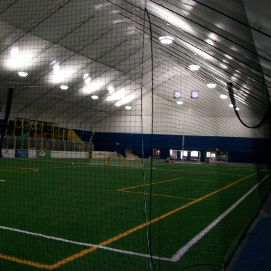 An after photo with view of netting at the John Smith Soccer Academy in Millford, MA.