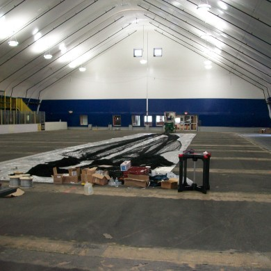 A before photo of the John Smith Soccer Academy in Millford, MA.