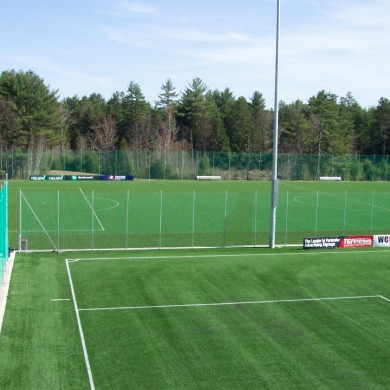 Soccer perimeter fence for a four field facility at Seacoast United in Epping, NH