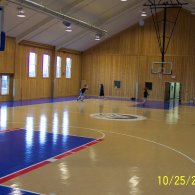 Sport Court at Stratton Mountain School in Stratton Mountain, VT.