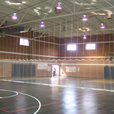 Divider net with Sport Court multi-sport surface at Martin Luther King in Springfield, MA.