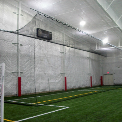 Retractable batting cage.