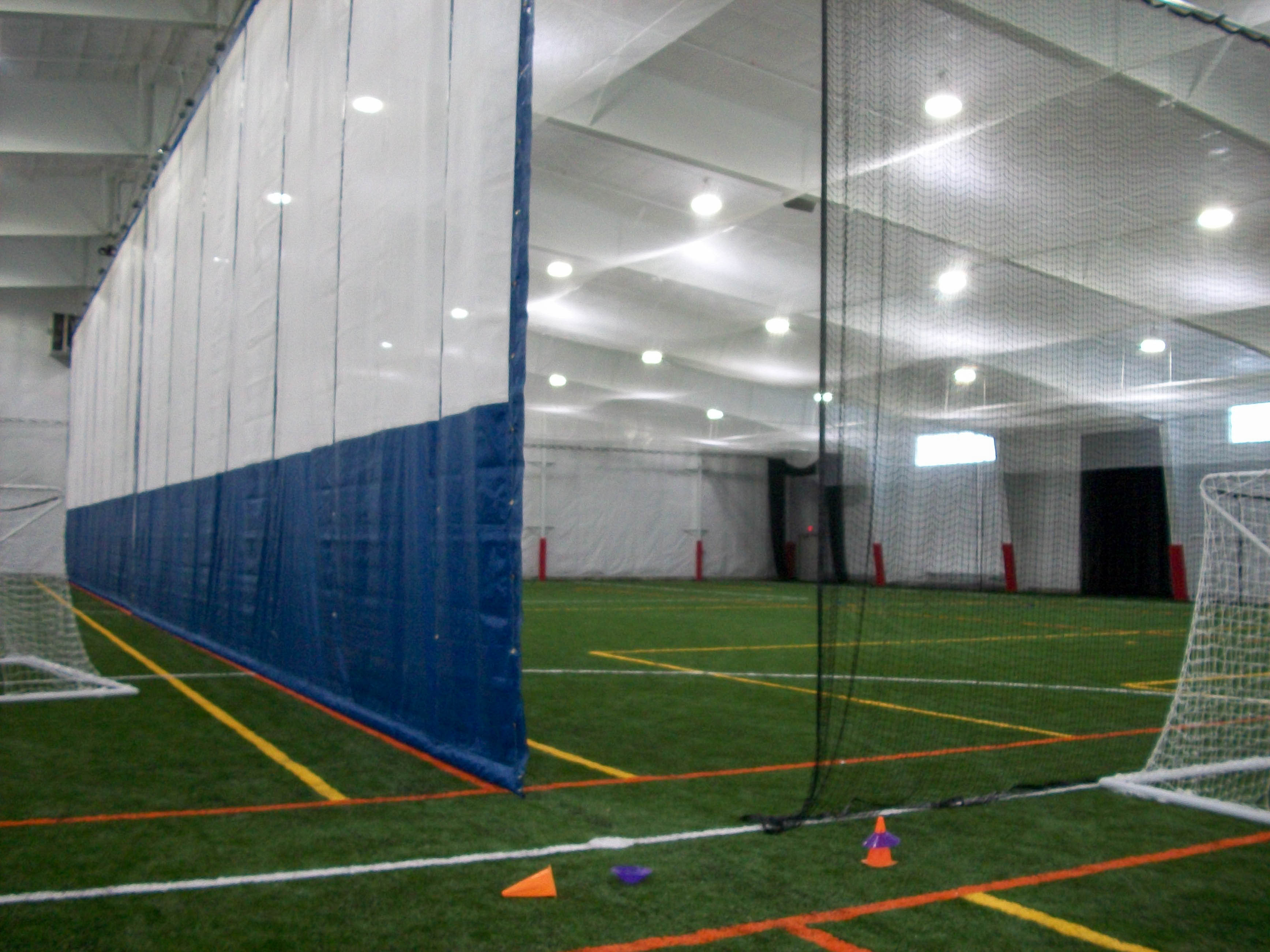 Vermont custom nets multi sport vermont custom nets for Indoor cricket net design